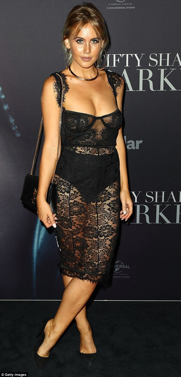 Revealing: DJ Tigerlily appeared to take the movie's sensual theme to heart, wearing a see-through lace dress