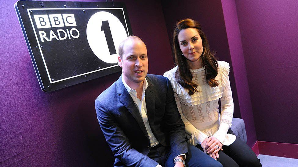 Duke and Duchess of Cambridge in the Radio 1 studio